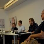 Spotkanie: Jazz pod prąd, Adam Baruch - drugi z lewej